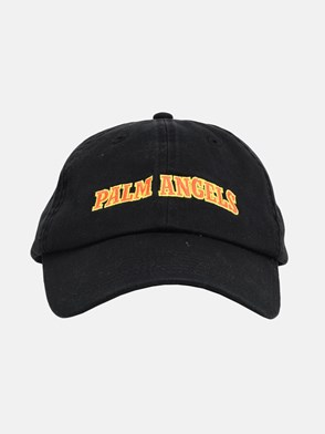 PALM ANGELS - BLACK NEW COLLEGE CAP