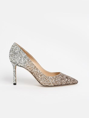 JIMMY CHOO - SILVER AND GOLD ROMY PUMPS