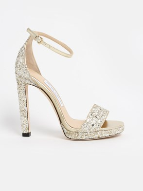JIMMY CHOO - GOLD MISTY SANDALS