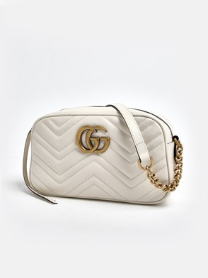 GUCCI - WHITE MARMONT BAG