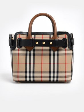 BURBERRY - BEIGE CHECK BAG