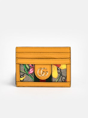 GUCCI - YELLOW GG SUPREME FLORA CARD HOLDER