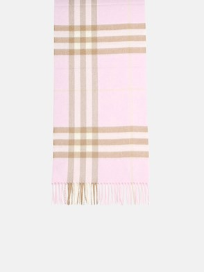 BURBERRY - POWDER PINK CHECK SCARF