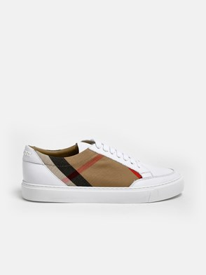 BURBERRY - WHITE CHECK SNEAKERS