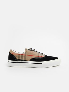 BURBERRY - BLACK CHECK SNEAKERS