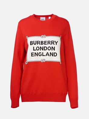 BURBERRY - RED SWEATER