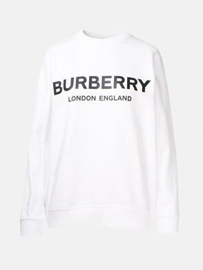 BURBERRY - FELPA BIANCA