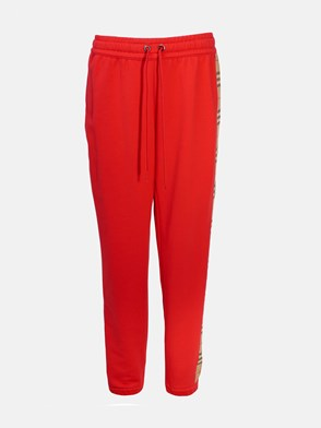 BURBERRY - RED TRACKSUIT PANTS