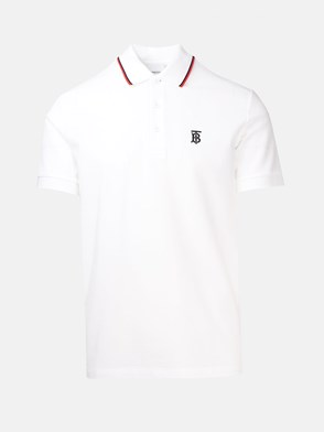 BURBERRY - WHITE POLO SHIRT