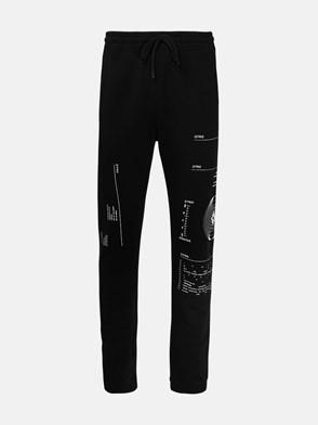 MARCELO BURLON COUNTY OF MILAN - BLACK TRACKSUIT PANTS