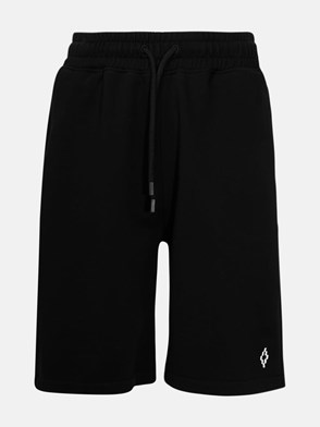 MARCELO BURLON COUNTY OF MILAN - BLACK BERMUDA SHORTS
