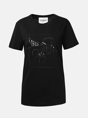 ICEBERG - BLACK T-SHIRT