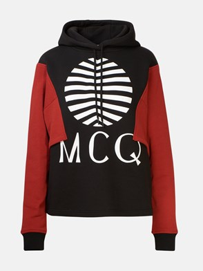McQ BY ALEXANDER MCQUEEN - RED AND BLACK SWEATSHIRT