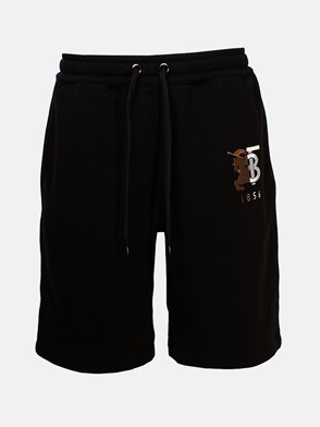 BURBERRY - BLACK BERMUDA SHORTS