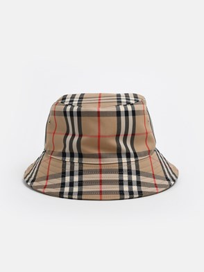 BURBERRY - WHITE CHECK HAT