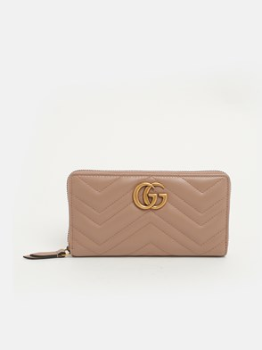 GUCCI - POWDER PINK GG MARMONT WALLET