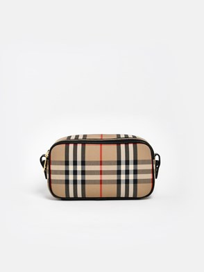 BURBERRY - TRACOLLA MINI 2 ZIP CHECK