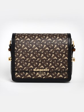 BURBERRY - BROWN NEW LOGO GRACE BAG