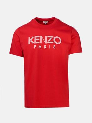 KENZO - T-SHIRT LOGO ROSSA