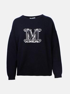 MAX MARA - MAGLIA UDINE LOGO BLU