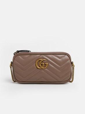 GUCCI - POWDER PINK GG MARMONT BAG