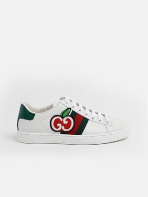 GUCCI - SNEAKERS ACE WEB+MELA BIANCHE