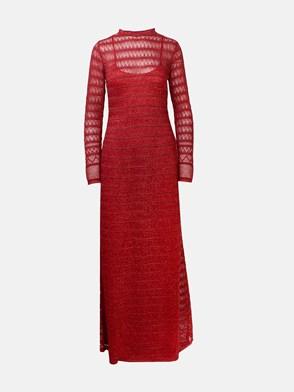 M MISSONI - RED LUREX DRESS