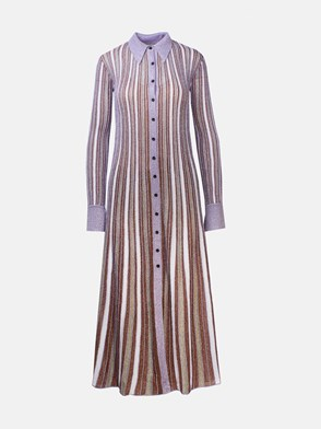 M MISSONI - PURPLE STRIPED DRESS