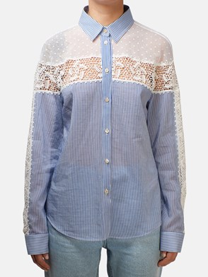 REDVALENTINO - BLUE AND WHITE SHIRT