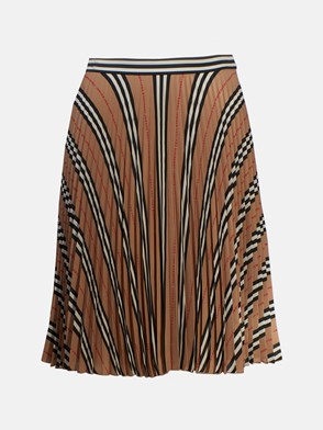 BURBERRY - BEIGE PLEATED RERSBY SKIRT