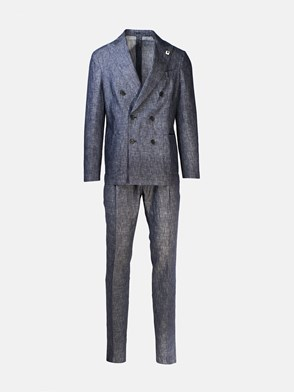 LARDINI - BLUE DOUBLE-BREASTED SUIT