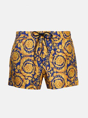 VERSACE - BLUE AND GOLD SWIMSUIT