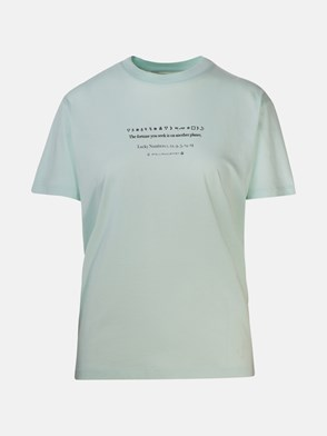 STELLA McCARTNEY - T-SHIRT FORTUNE PLANET AZZURRA