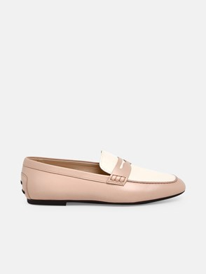 TOD'S - WHITE AND PINK LOAFERS