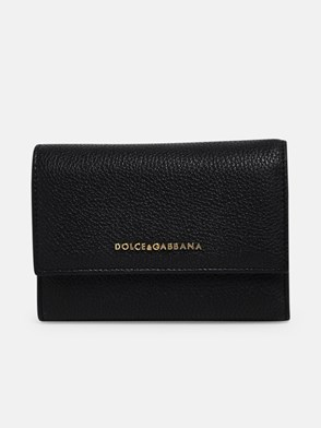DOLCE & GABBANA - BLACK BOTTALATO WALLET
