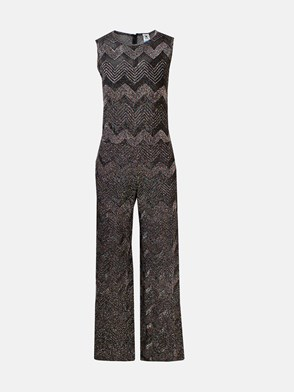 M MISSONI - BLACK LUREX JUMPSUIT