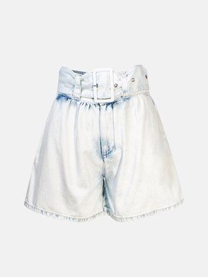 MSGM - LIGHT BLUE DENIM SHORTS