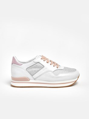 HOGAN - WHITE AND PINK H222 SNEAKERS
