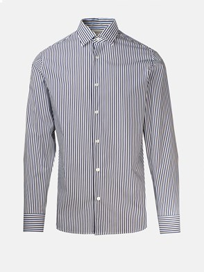 Z ZEGNA - BLUE AND RED STRIPED SHIRT