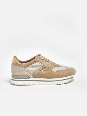 HOGAN - GOLD AND BEIGE H222 SNEAKERS