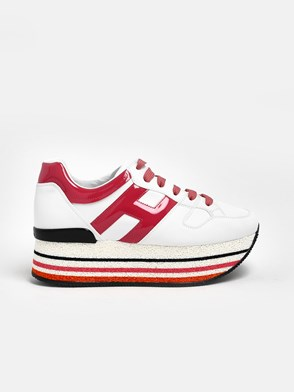 HOGAN - WHITE AND PINK MAXI H501 SNEAKERS PINK