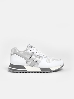 HOGAN - WHITE AND SILVER H383 SNEAKERS