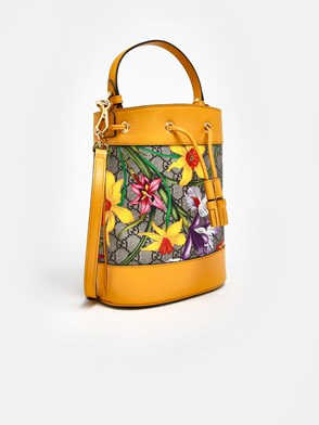 GUCCI - SACCA OPHIDIA FLORA GIALLA