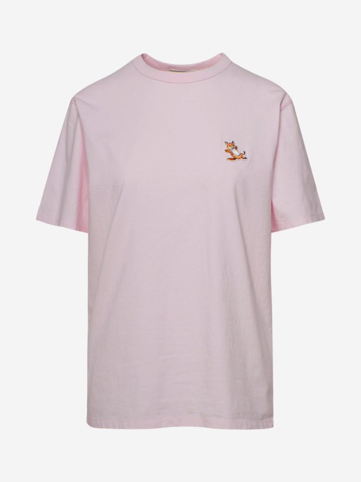 Maison Kitsuné T-shirts T-SHIRT CHILLAX FOX ROSA