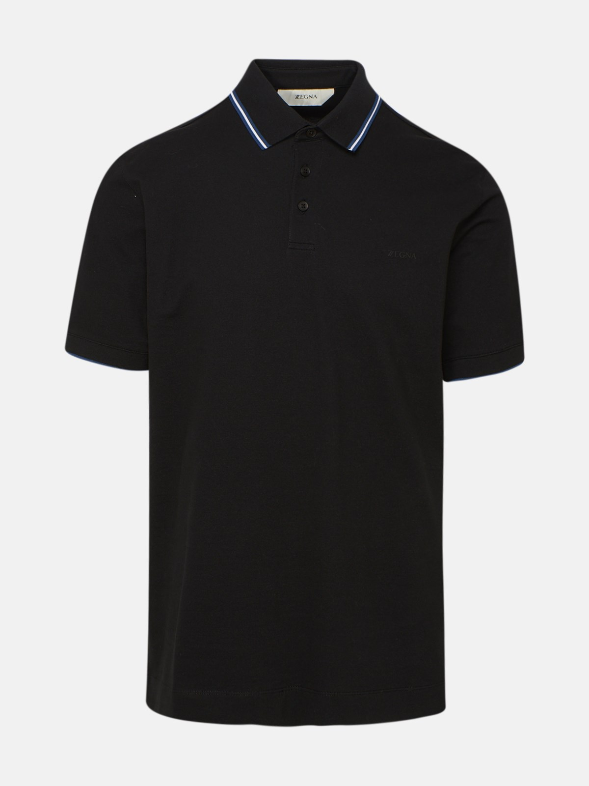 Z Zegna BLACK POLO SHIRT