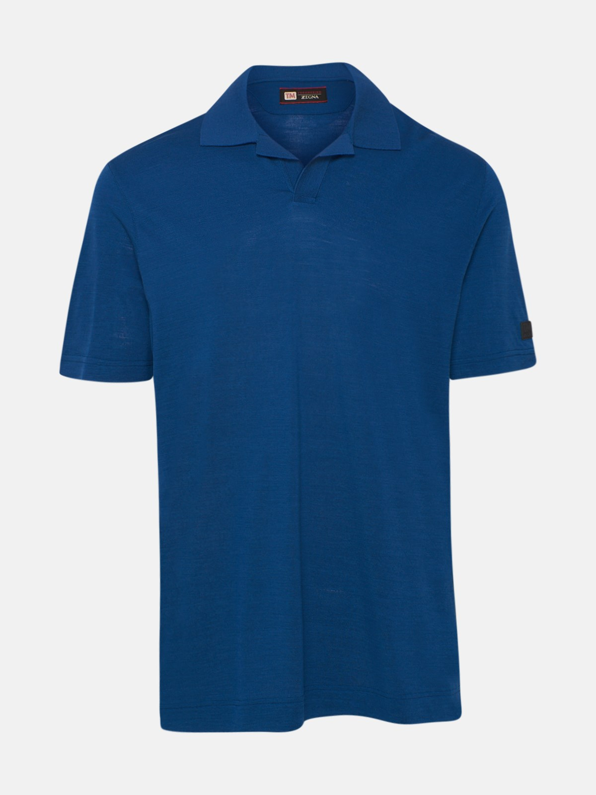 Z Zegna BLUE POLO SHIRT