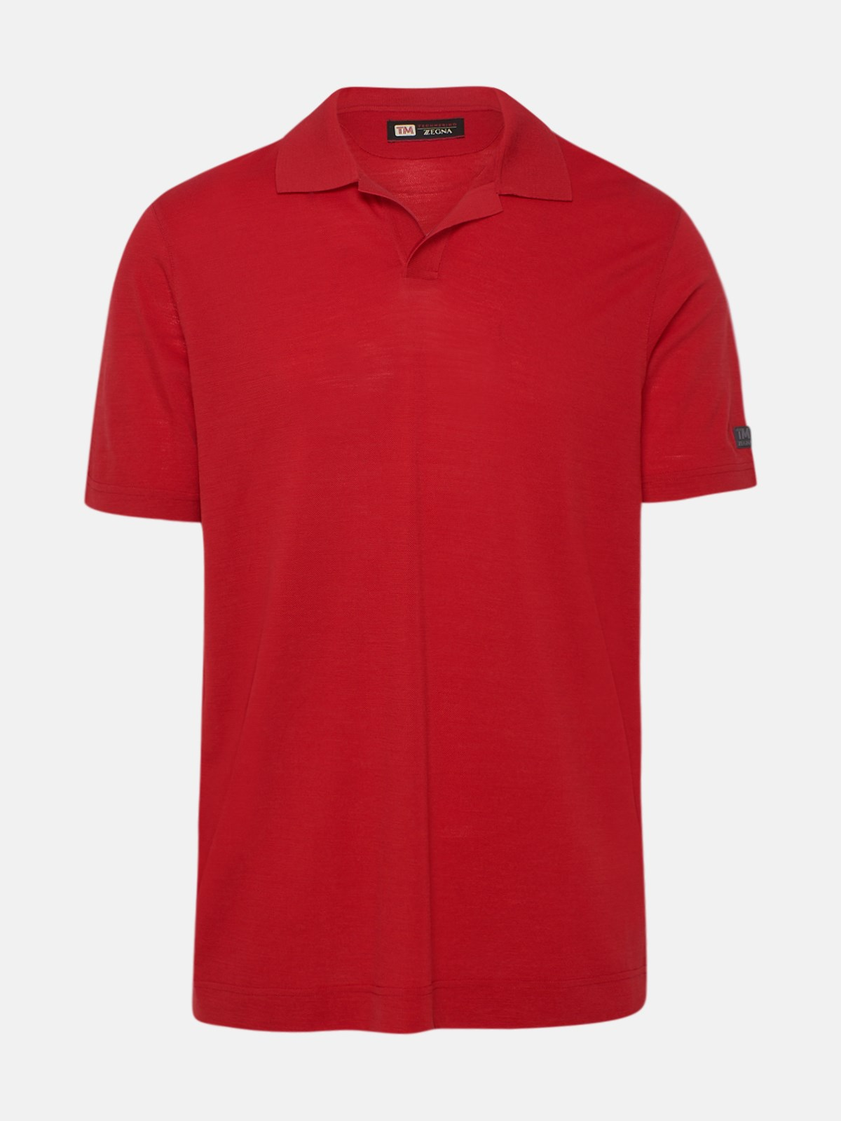 Z Zegna RED POLO SHIRT