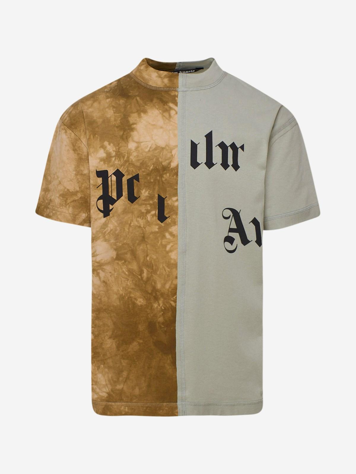 Palm Angels T-shirts GREEN BROKEN T-SHIRT