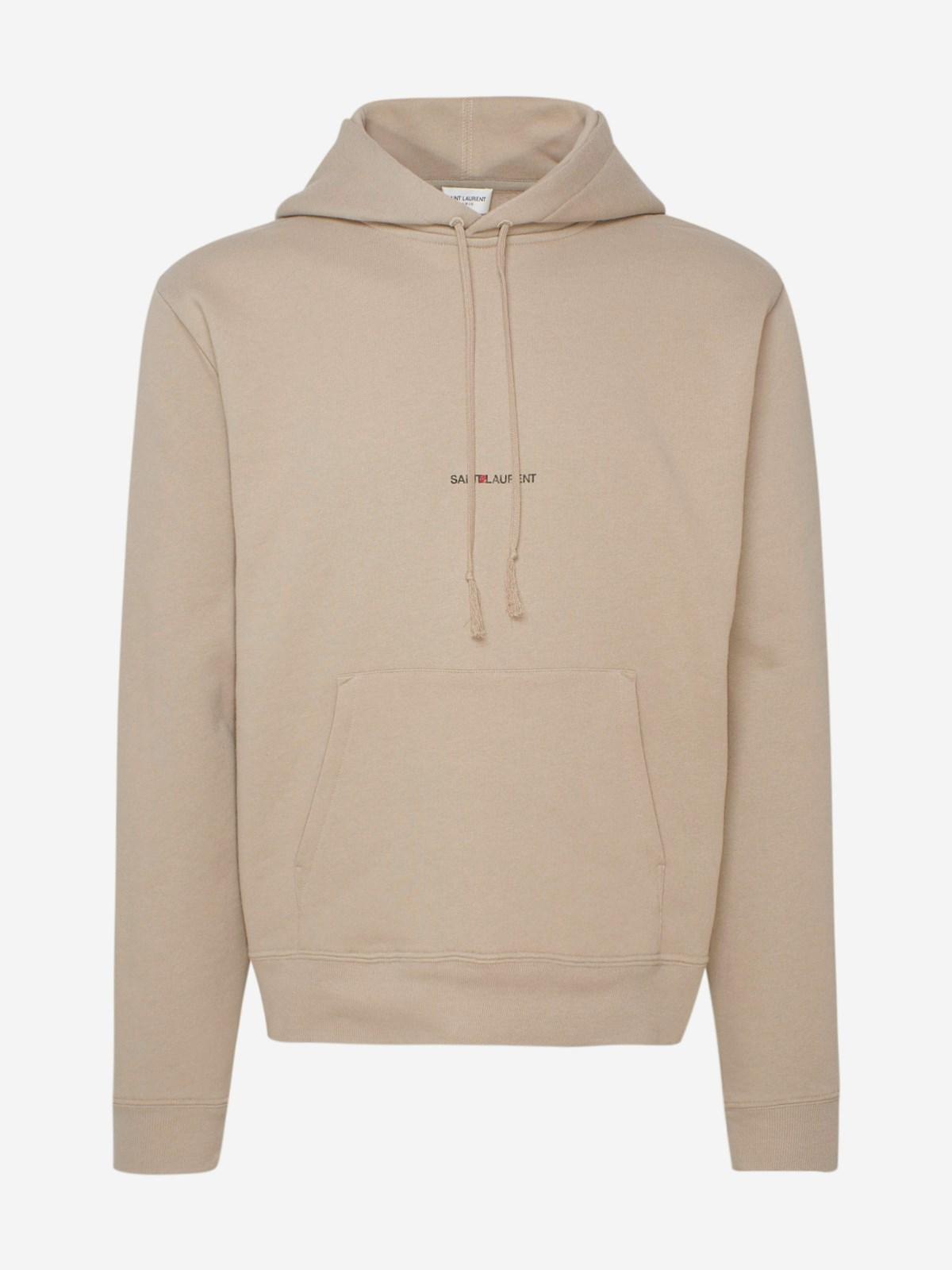 Saint Laurent Clothing BEIGE SWEATSHIRT