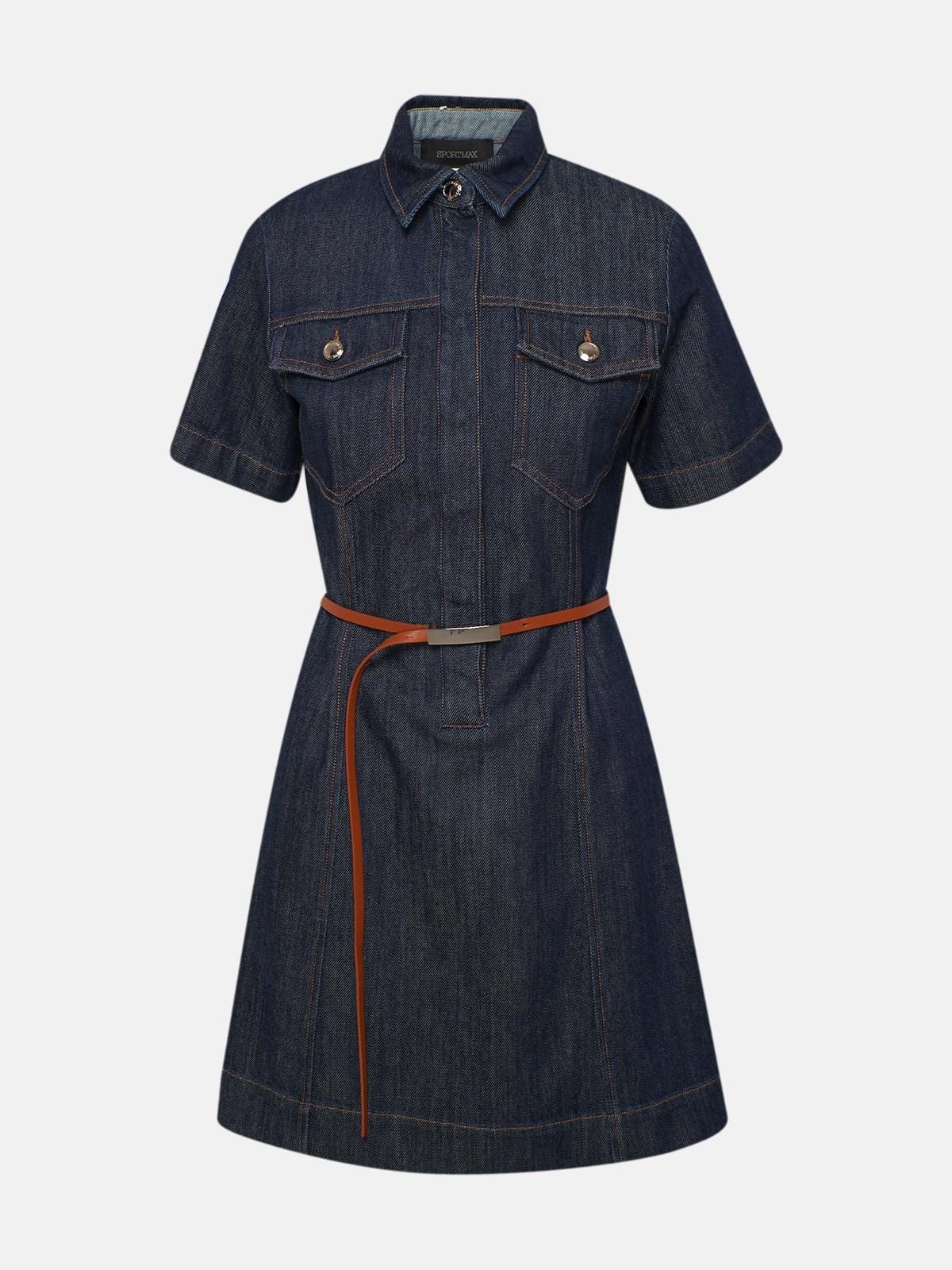 Sportmax BLUE TEGLIA DRESS